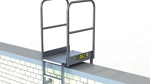 Access Ladder for Parapet Wall