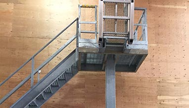 Access Platform with Rigid Fall Protection