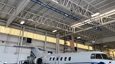 Rigid Monorail Aircraft Fall Arrest System