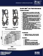 3M | DBI-SALA ExoFit NEX Arc Flash Harness Spec Sheet