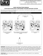 Aviation Rated Vacuum Anchor Manual