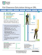 Tether Track Fall Clearance Calculation Sheet