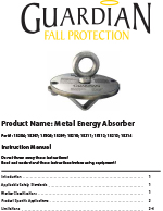 Guardian Metal Energy Absorber Manual