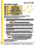 Guardian Non-Shock Absorbing Lanyard Spec Sheet