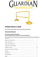 Guardian Portable G-Rail System Manual