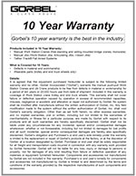 Tether Track 10-Year Warranty