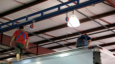 Dual Track Ceiling Fall Protection