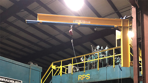 Gorbel Swing Arm Fall Arrest System Install