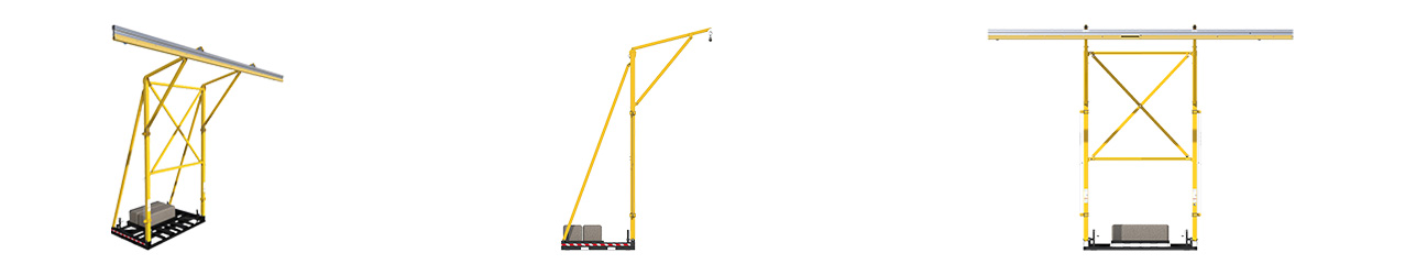 FlexiGuard Portable Counterweighted Overhead Rail Fall Protection System