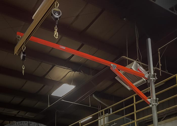 Fold Away System for Overhead Rail Fall Protection