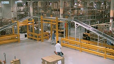 Guardrail Protecting Conveyors and Machines