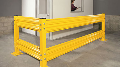 Industrial Guardrail Protects Office