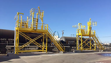 Multiple Railcar Loading Access Platforms