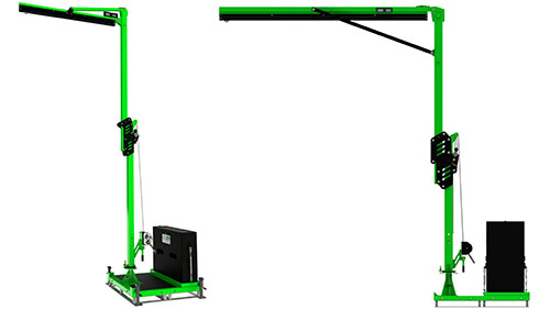 Portable Counterweighted Jib Anchor