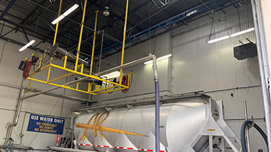 Rigid Lifeline Monorail Installation for Tanker Trucks