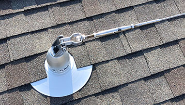 Roofsafe Horizontal Lifeline Installation on Shingle Roof
