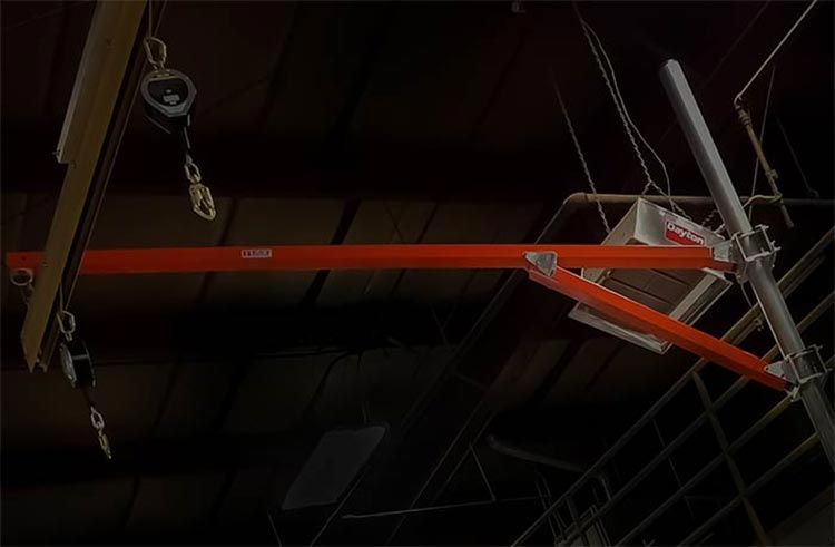 Free Standing Fold Away Fall Arrest System