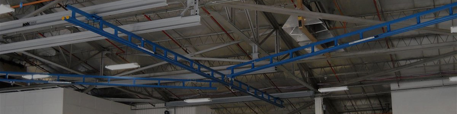 Ceiling Mounted Fall Protection Monorails