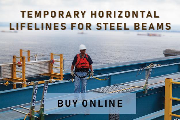 emporary Horizontal Lifeline-Steel Beam