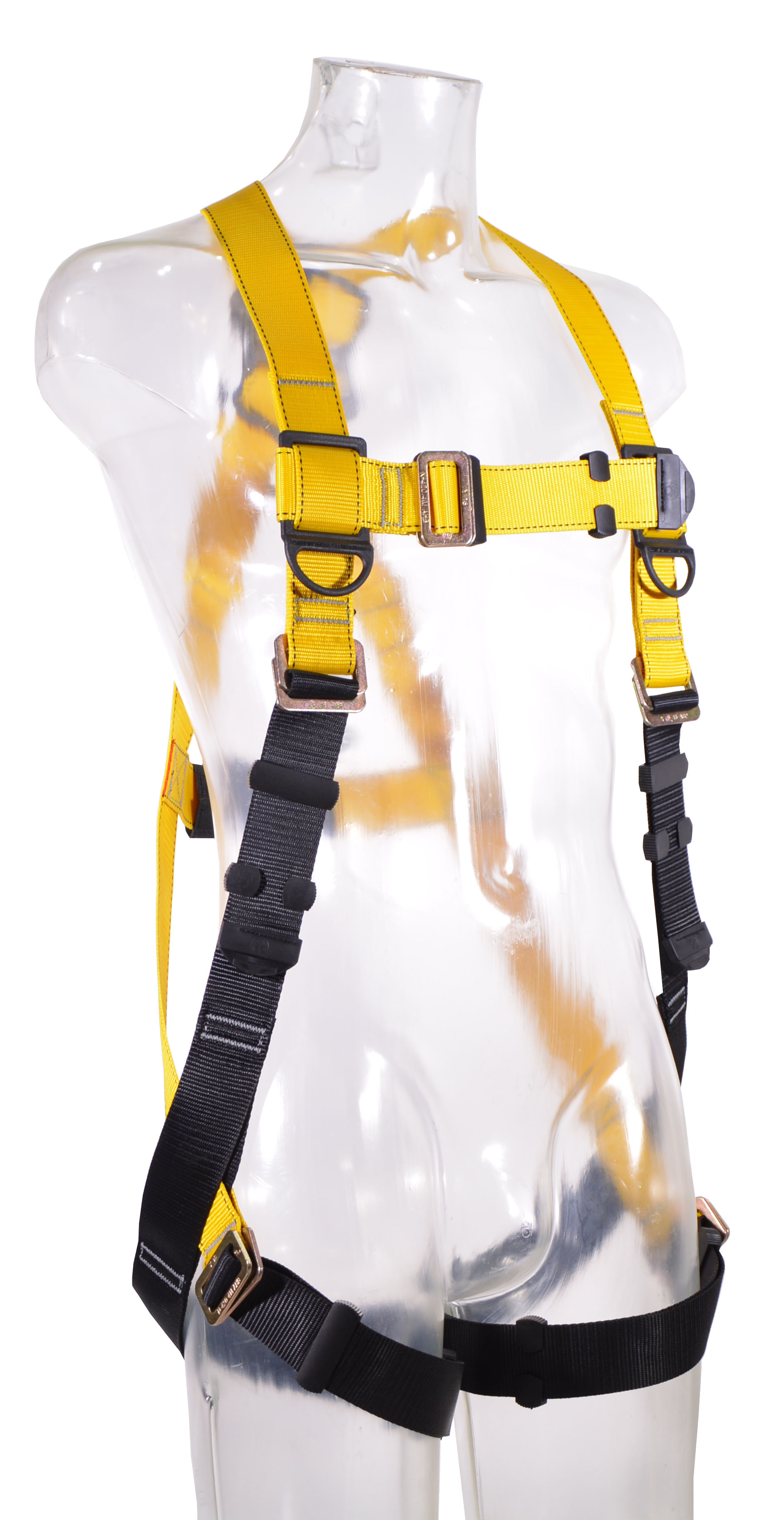Guardian Series 1 Full-Body Harness, Pass-Through Chest and Legs, Front