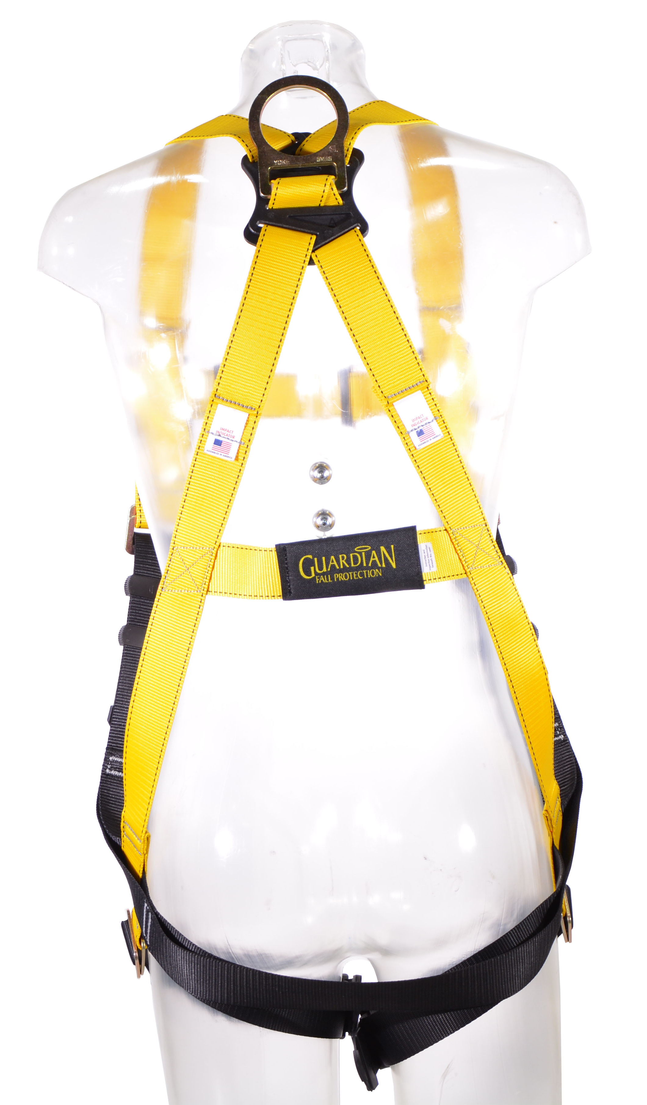 Guardian Series 1 Full-Body Harness, Pass-Through Chest and Legs, Back