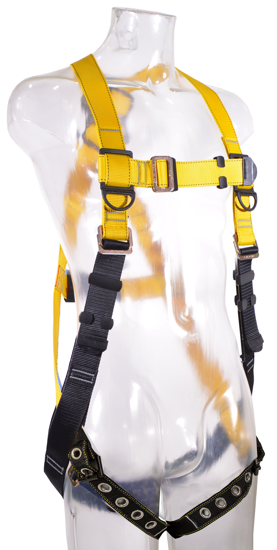 Guardian Series 1 Full-Body Harness, Pass-Through Chest, Tongue-Buckle Legs, Front