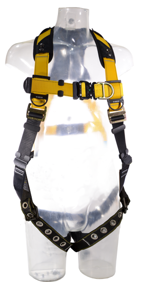 Guardian Series 3 Full-Body Harness, Quick-Connect Chest, Tongue-Buckle Legs, Sternal D-Ring, Front