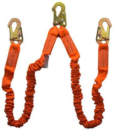 Guardian Shock Absorbing Stretch Lanyard, 4.5 - 6 ft., Double Leg