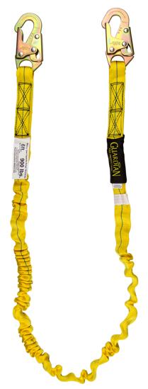 Guardian Internal Shock Lanyard, 6 ft. Single Leg w/ Snap Hooks
