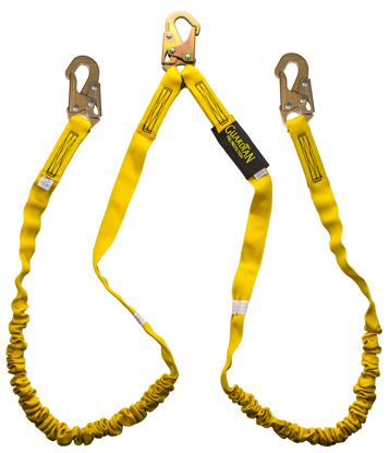 Guardian Internal Shock Lanyard, 6 ft. Double Leg w/ Snap Hooks
