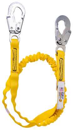 Guardian Internal Shock Lanyard, 6 ft. Single Leg w/ Surfacetech Webbing