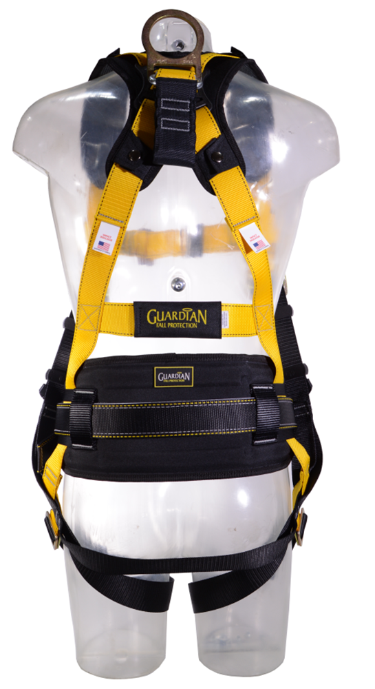 Guardian Series 3 Full-Body Harness w/ Waist Pad, Pass-Through Chest and Legs, Side D-Rings, Back