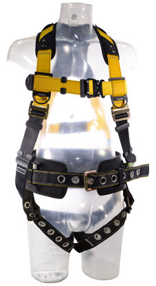 Guardian Series 3 Full-Body Harness w/ Waist Pad, Quick-Connect Chest, Tongue-Buckle Legs, Front