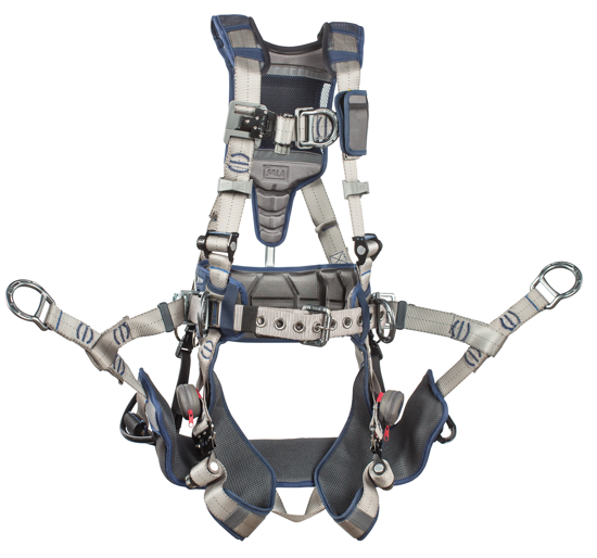 ExoFit STRATA Tower Climbing Harness, Triple Action Chest and Leg Buckles, Chest D-Ring