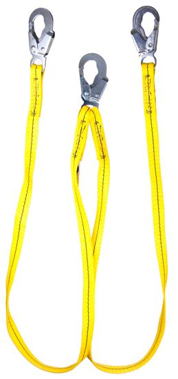 Guardian Non-Shock Absorbing Lanyard, 6 ft. Double Leg