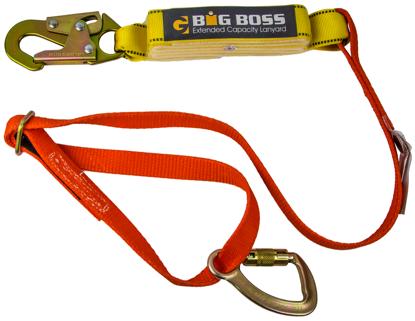 Guardian Triple Lock Wrap Adjustable Lanyard, 4 - 6 ft. Single Leg