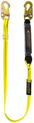 Guardian Shock Absorbing Adjustable Lanyard, 4 - 6 ft. Single Leg