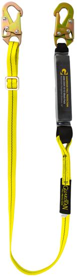 Guardian Shock Absorbing Adjustable Lanyard, 4 - 6 ft. Single Leg