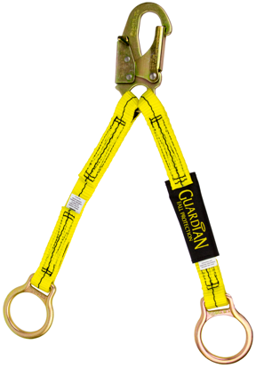 Guardian Non-Shock Absorbing Extension Lanyard, 18 in. Double Leg w/ Snap Hook