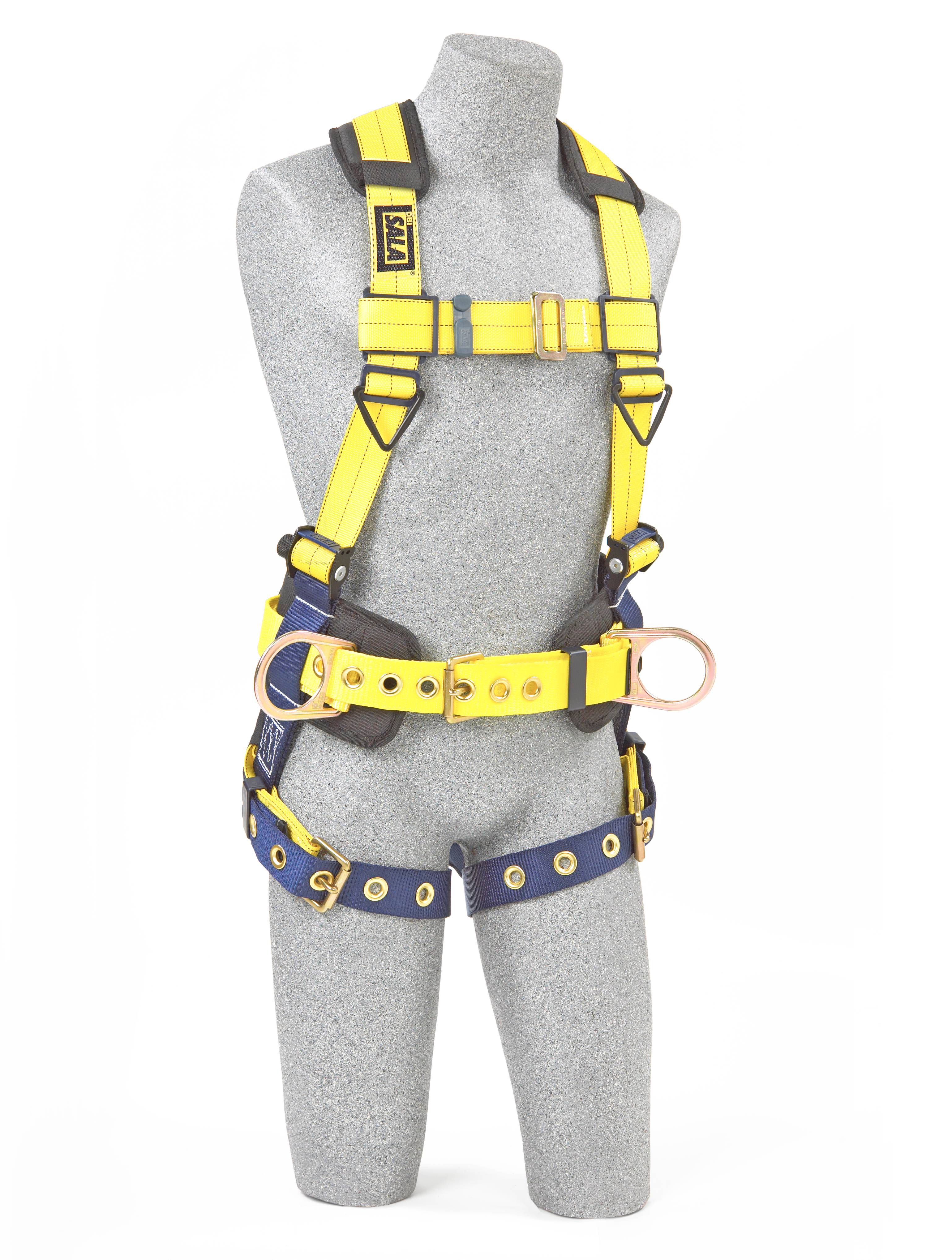 Delta Construction Harness, Pass-Through Chest, Tongue-Buckle Legs, Side D-Rings, Front