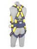 Delta Construction Harness, Pass-Through Chest, Tongue-Buckle Legs, Side D-Rings, Back