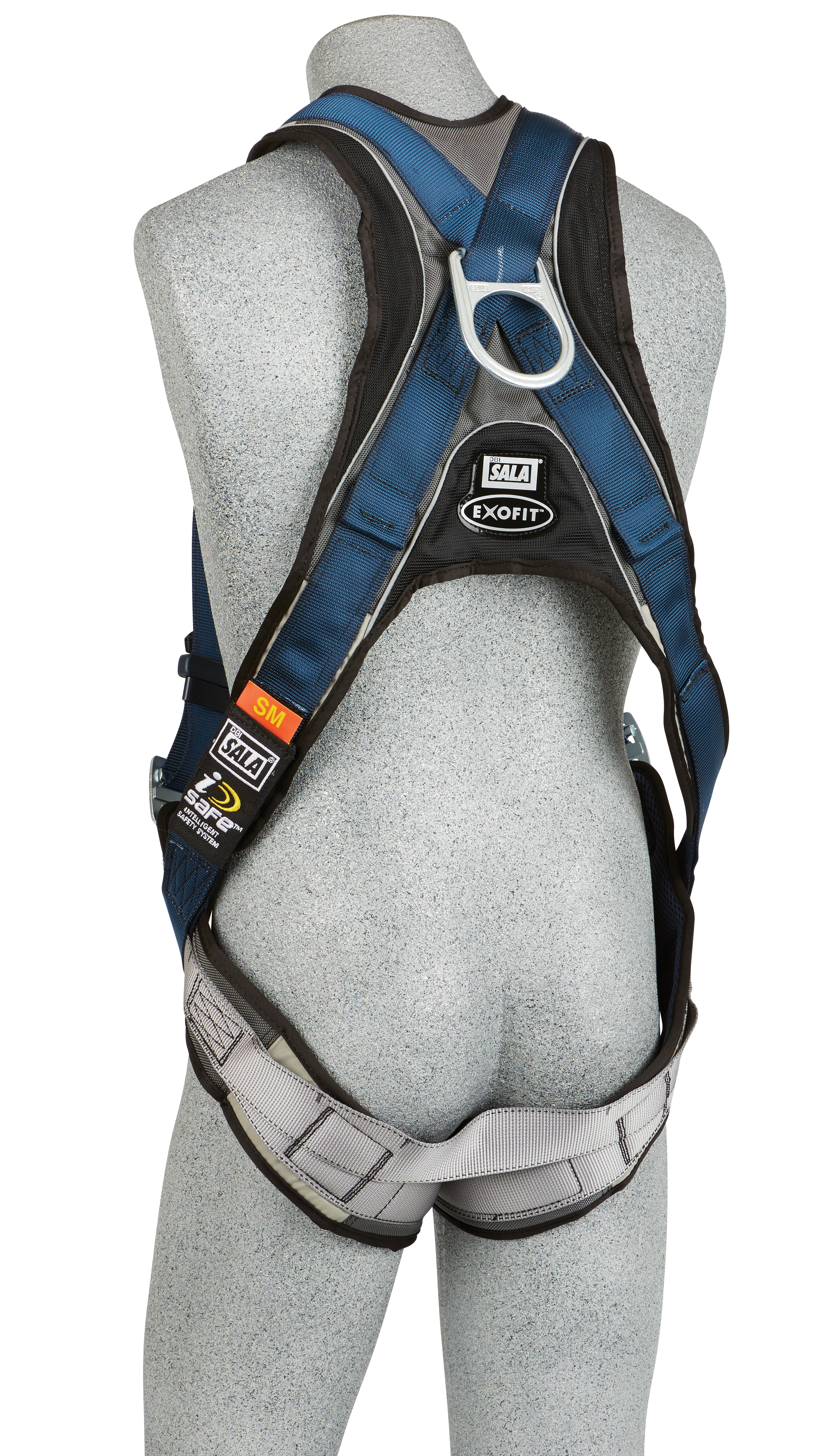 ExoFit Vest-Style Harness, Quick-Connect Chest and Legs, Back