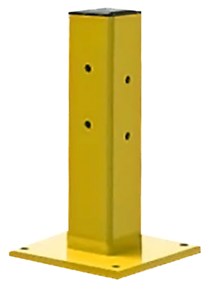 18 In. Ht. Heavy Duty Guardrail Column, Single Rail, C1