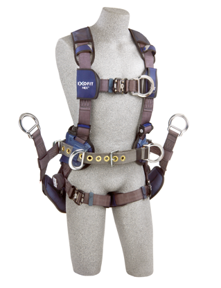 ExoFit NEX Tower Climbing Harness, Quick-Connect Chest and Legs, Chest and Side D-Rings, Front