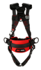 Protecta Standard Construction-Style Harness, Pass-Through Chest, Tongue-Buckle Legs, Side D-Rings, Back