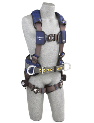 ExoFit NEX Construction-Style Harness, Quick-Connect Chest and Legs, Side D-Rings, Front
