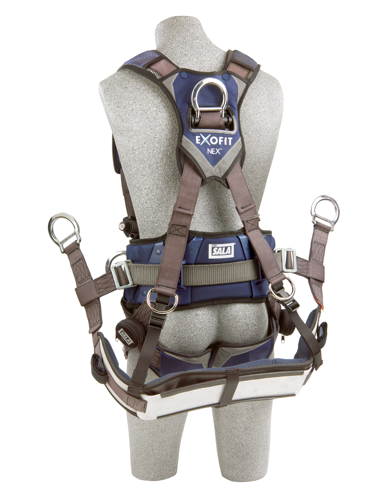 ExoFit NEX Tower Climbing Harness, Quick-Connect Chest and Legs, Chest and Side D-Rings, Back