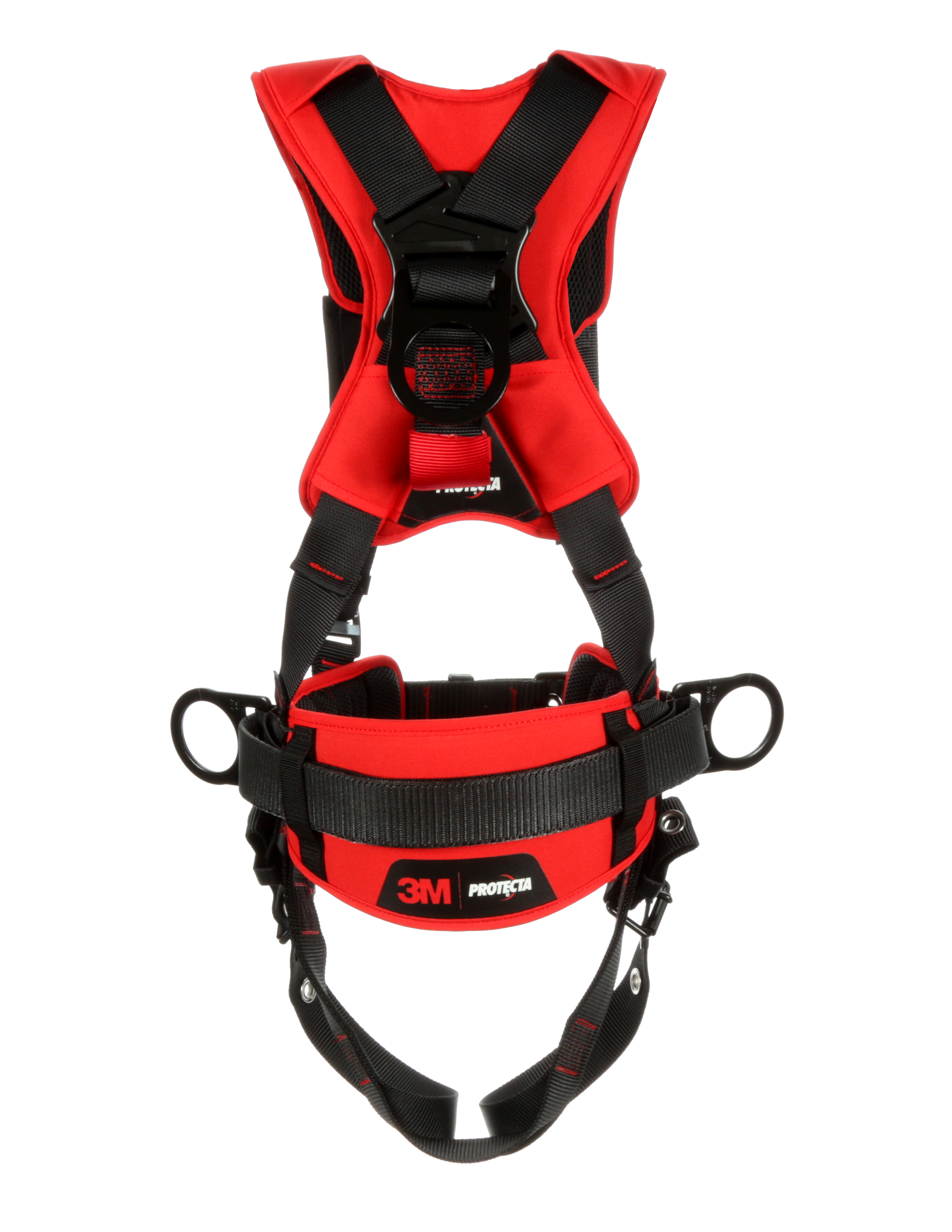 Protecta Comfort Construction-Style Harness, Pass-Through Chest, Tongue-Buckle Legs, Side D-Rings, Back