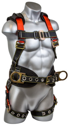Seraph Construction Harness, Pass-Through Chest, Tongue-Buckle Legs, Side D-Rings, Front