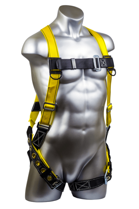 Velocity Harness, Pass-Through Chest, Tongue-Buckle Legs, Front